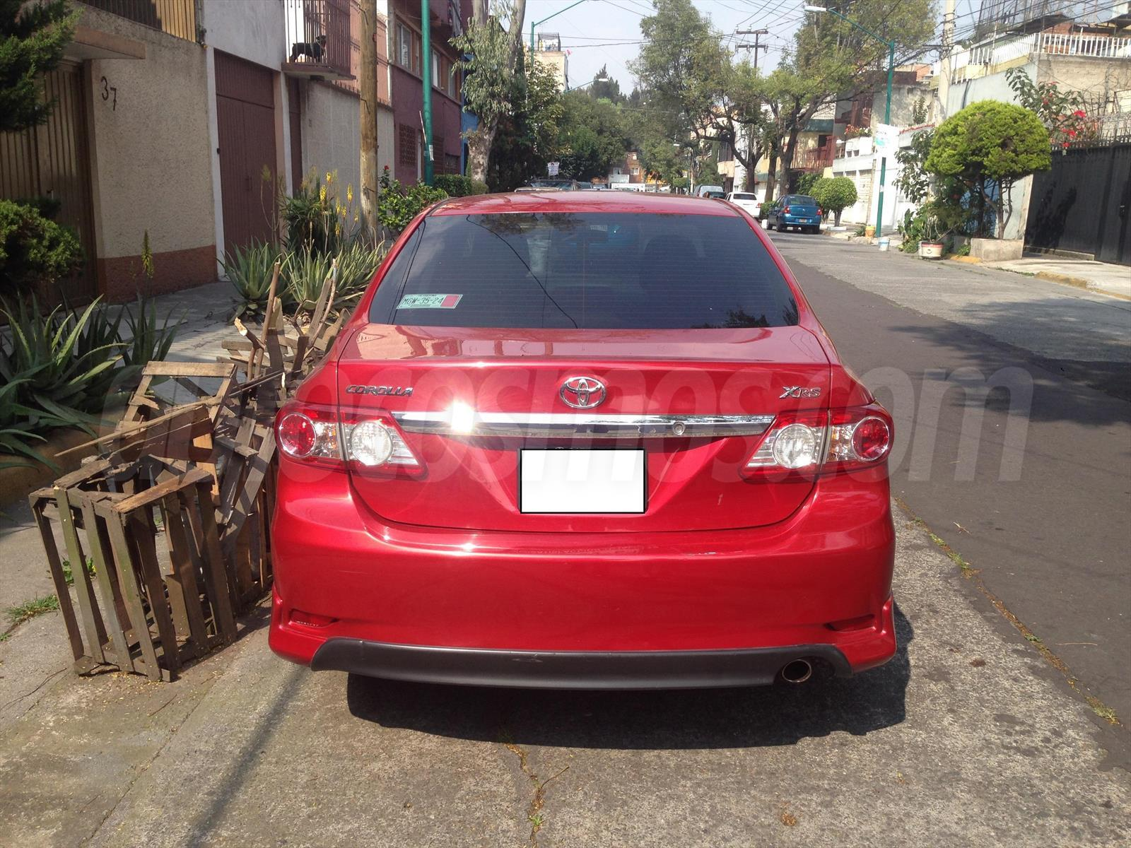 venta auto usado toyota corolla xrs 2 4l 2011 color rojo. Black Bedroom Furniture Sets. Home Design Ideas