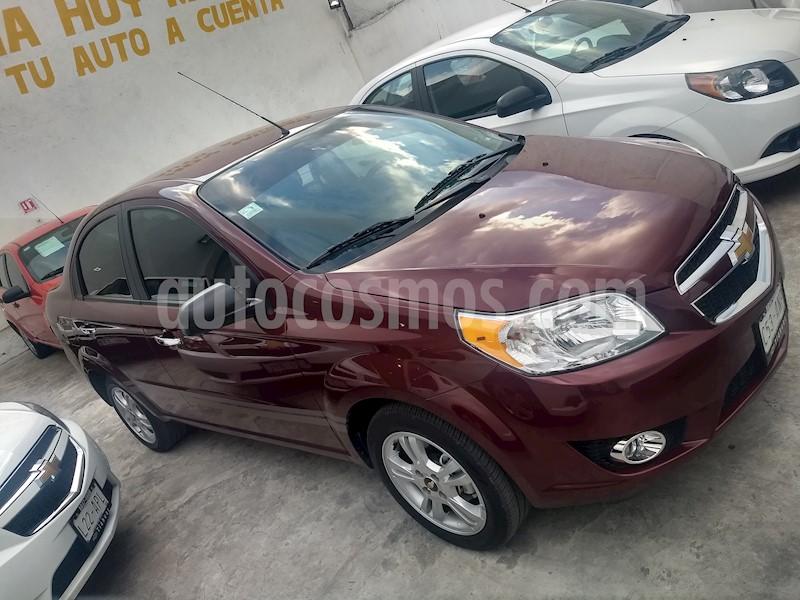 Chevrolet Aveo Ltz Seminuevo 2017 Color Rojo Tinto Precio 168000