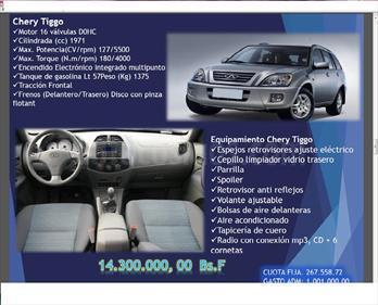 Foto Chery Tiggo 2.0L usado (2007) color A eleccion precio BoF14.300.000