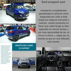 Foto venta carro usado Ford Ecosport Titanium Aut 4x2 (2016) color Azul precio BoF350.000.000