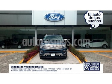 Foto venta Auto Seminuevo Ford Expedition PLATINUM 4X4 (2018) color Azul precio $1,190,000
