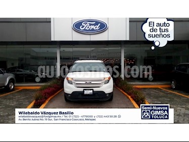 Foto venta Auto Seminuevo Ford Explorer 3.5 XLT V6 4X2 AT (2013) color Blanco precio $269,000
