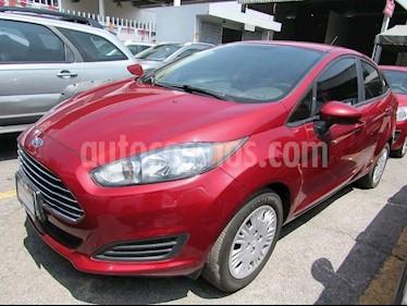 Foto venta Auto usado Ford Fiesta Sedan S (2017) color Rojo Rubi precio $178,000