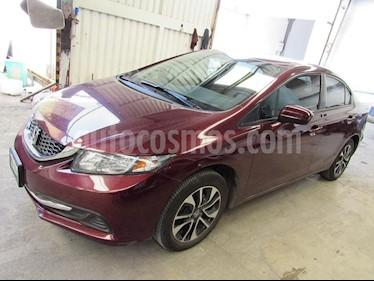 Foto venta Auto Usado Honda Civic EX Aut (2015) color Vino Tinto precio $220,000