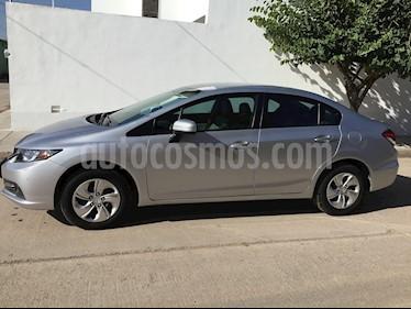 Foto venta Auto usado Honda Civic LX 1.8L Aut (2015) color Plata precio $189,000