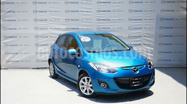 Foto venta Auto Usado Mazda 2 Touring (2015) color Azul precio $160,000