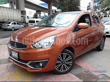 Foto venta Auto Seminuevo Mitsubishi Mirage GLS CVT (2017) color Naranja Metalico precio $180,000