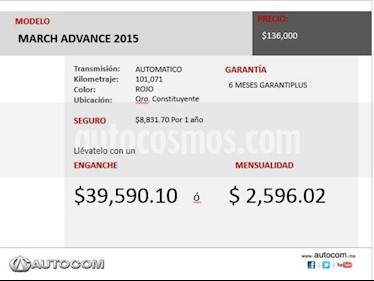 Foto venta Auto Seminuevo Nissan March MARCH AUT MA (2015) color Rojo precio $136,000