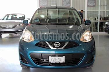 Foto venta Auto Usado Nissan March Sense  Aut (2017) color Azul Electrico precio $155,000