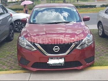 Foto venta Auto usado Nissan Sentra Sense Aut (2017) color Rojo Burdeos precio $226,500
