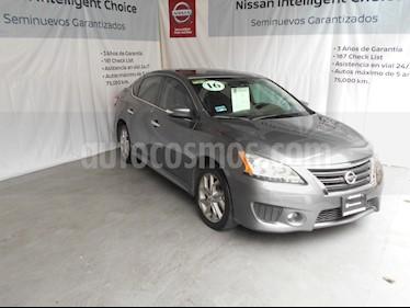 Foto venta Auto Usado Nissan Sentra SR NAVI Aut (2016) color Gris Oxford precio $230,000