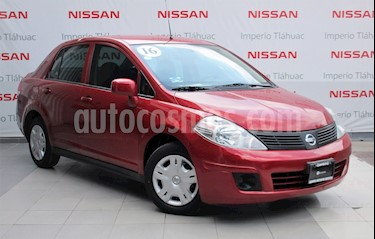 Foto venta Auto Usado Nissan Tiida Sedan Sense Aut (2016) color Rojo Burdeos precio $139,000