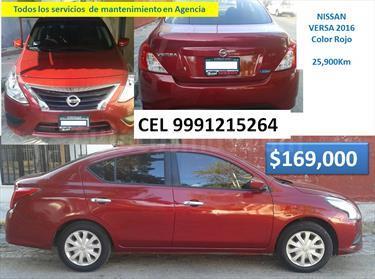 Foto venta Auto Seminuevo Nissan Versa Sense (2016) color Rojo precio $169,000