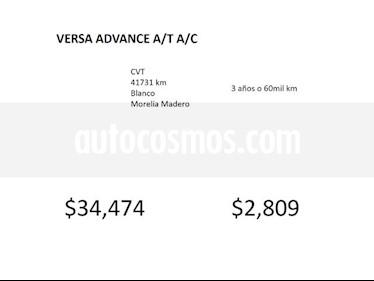 Foto venta Auto Seminuevo Nissan Versa VERSA ADVANCE A/T A/C (2017) color Blanco precio $180,000