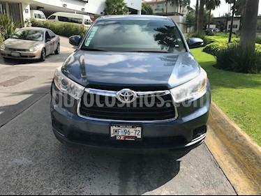 Foto venta Auto Usado Toyota Highlander LE (2015) color Azul precio $419,000
